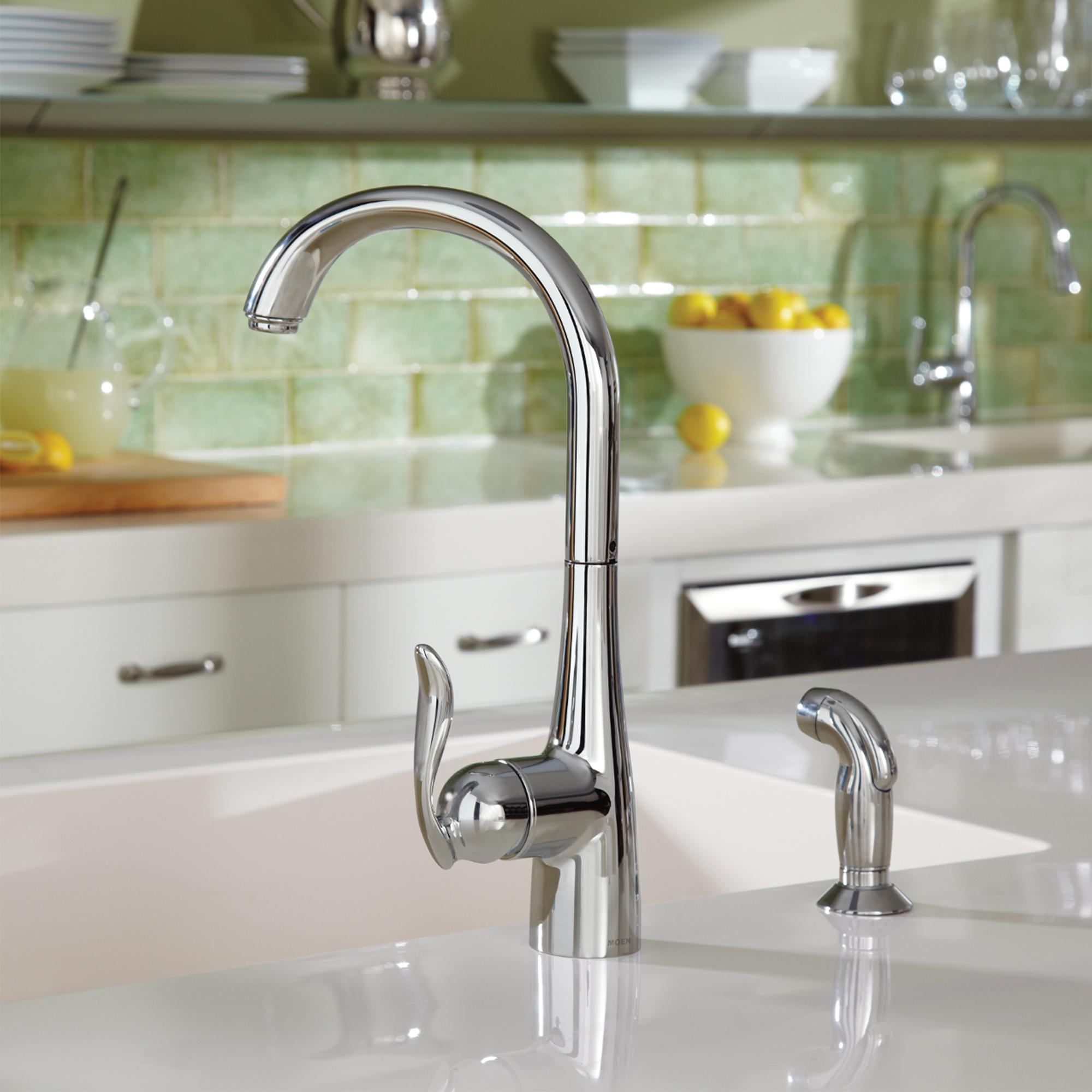 Moen Kitchen Faucet Lever Handle Comes Up