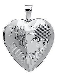 sterling silver heart locket pendant necklace