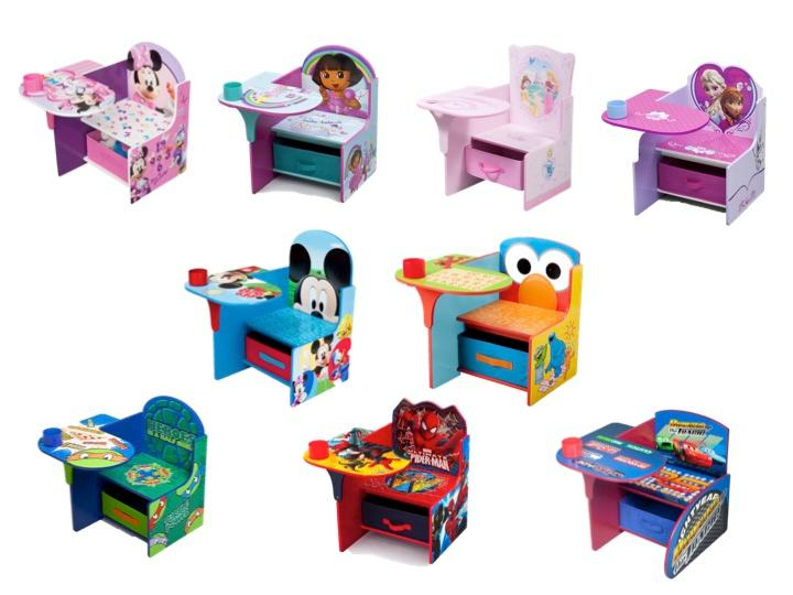 desk chair kids furniture toddler playroom play room  sc 1 st  Amazon.com & Amazon.com: Delta Children Chair Desk With Storage Bin Disney ...