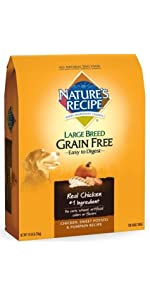 large breed grain free dog food