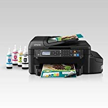 Epson WorkForce ET-4550 EcoTank Wireless Color All-in-One Supertank Printer with Scanner, Copier, Fax, Ethernet, Wi-Fi, Wi-Fi Direct, Tablet and ...