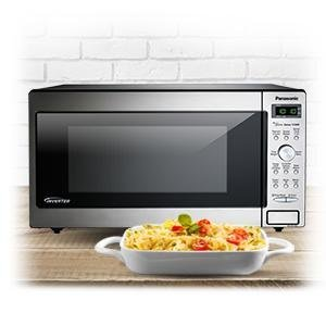 PANASONIC Compact Microwave Oven Built In / Countertop with Inverter Technology and 1250W of Cooking Power - NN-SD745S - 1.6 cu. Ft (Stainless Steel / ...