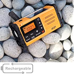 Sangean MMR-88 Emergency Alert Solar Hand Crank USB AM/FM Portable Radio
