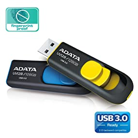retractable, capless, USB 3.0 Flash Drive, UV128, ADATA