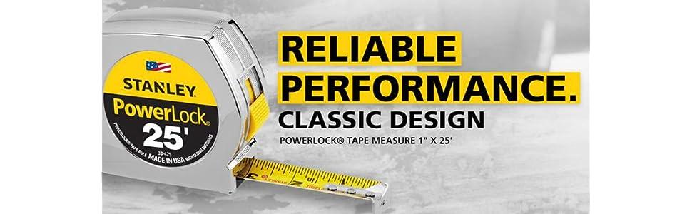 Stanley 33-425 Powerlock 25-Foot by 1-Inch Measuring Tape Original