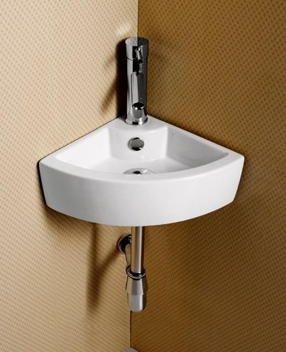 . Elanti Collection EC9808 Sink  Corner  17 5 x 12 2 x 4 9 Inches   White