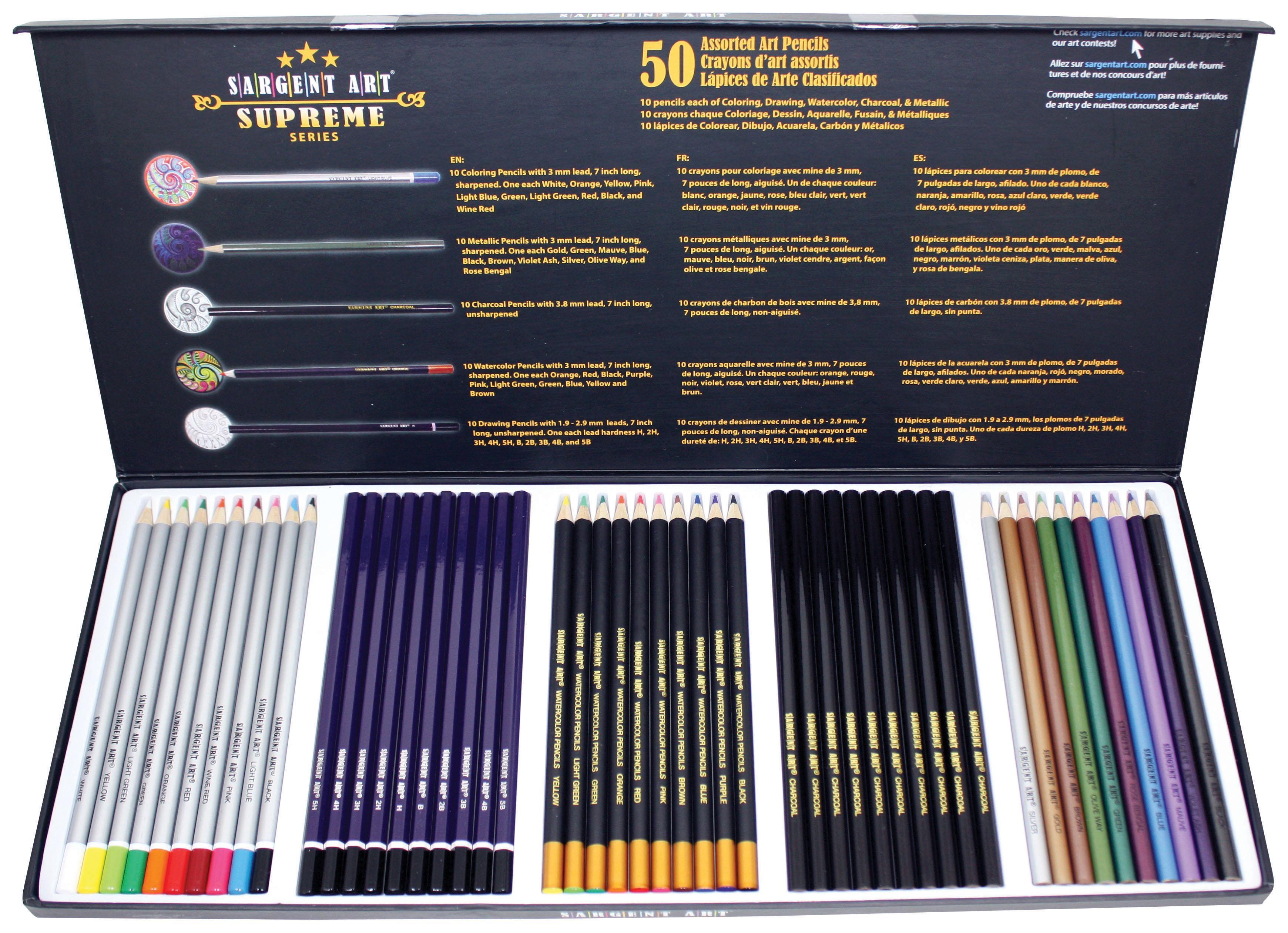 Amazon com sargent art 22 7295 supreme art pencil set colored