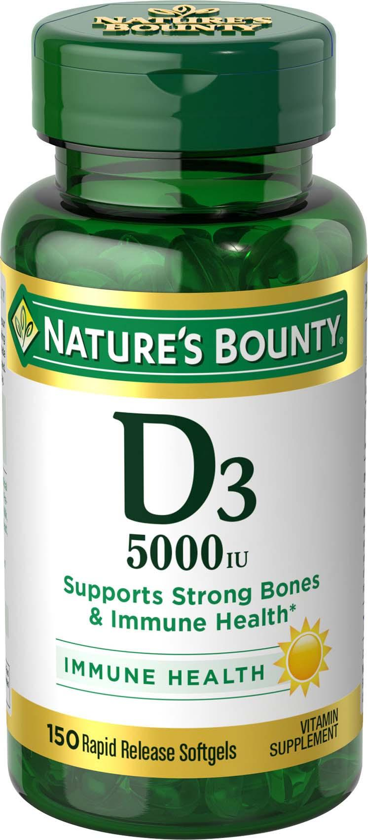 d3 bounty nature 5000 amazon strength softgels maximum iu ingredients liquid mg india low prices natures rapid quickly allow enter