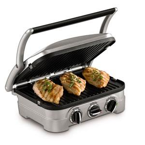 Amazon Com Cuisinart 5 In 1 Griddler Gr 4n Silver With