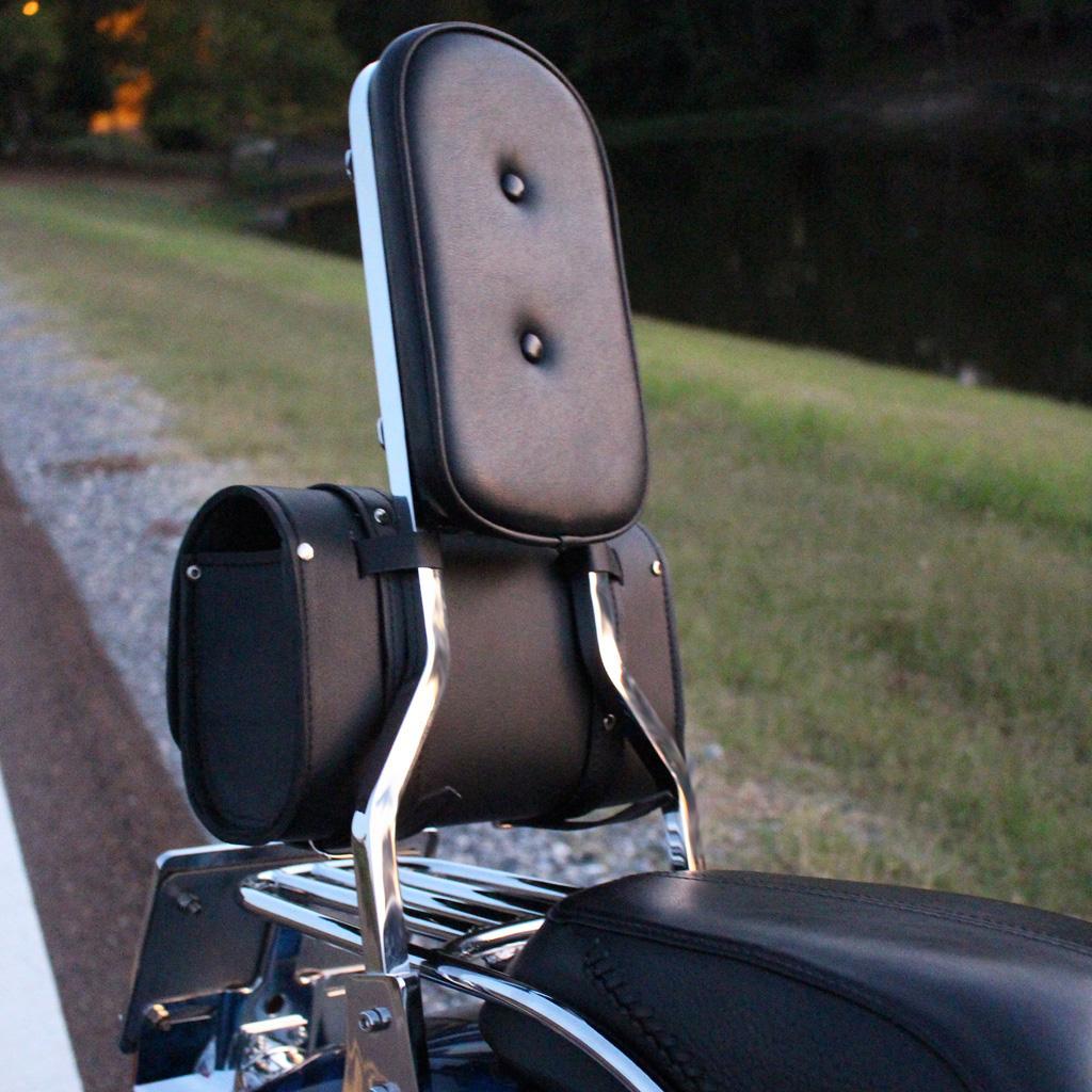 Black Fuel Helmets SH-BARBAG Handlebar Bag with Leather Shell