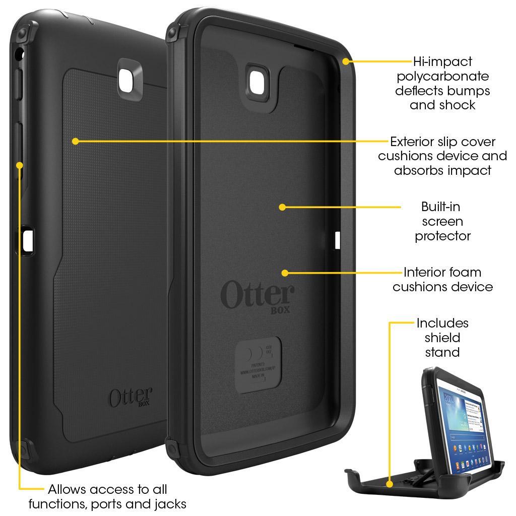 Amazon.com: OtterBox DEFENDER SERIES Case for Samsung Galaxy Tab 3 ...