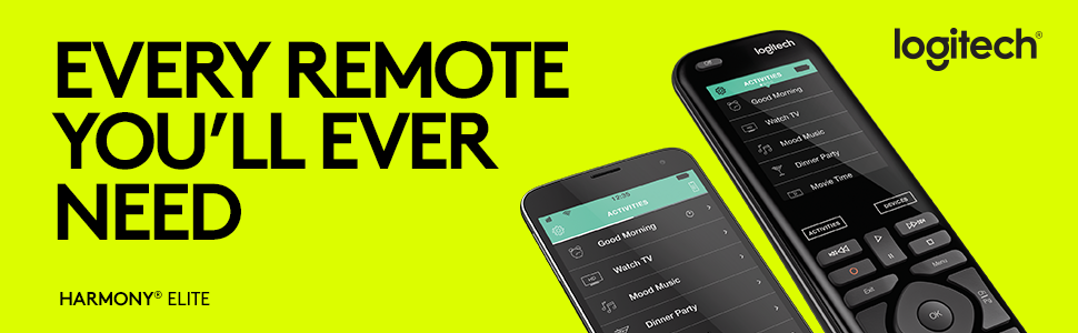 Logitech Harmony Elite Smart Home Univeral Remote Control 915-000256 w// Hub