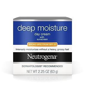 NEUTROGENA Deep Moisture Day Cream with Broad Spectrum SPF 20