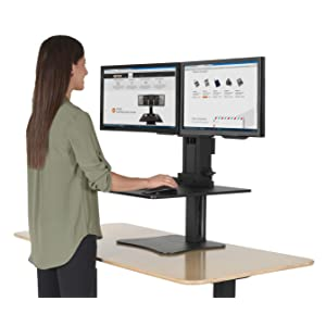 Victor DC350 High Rise Collection Dual Monitor SitStand Desk