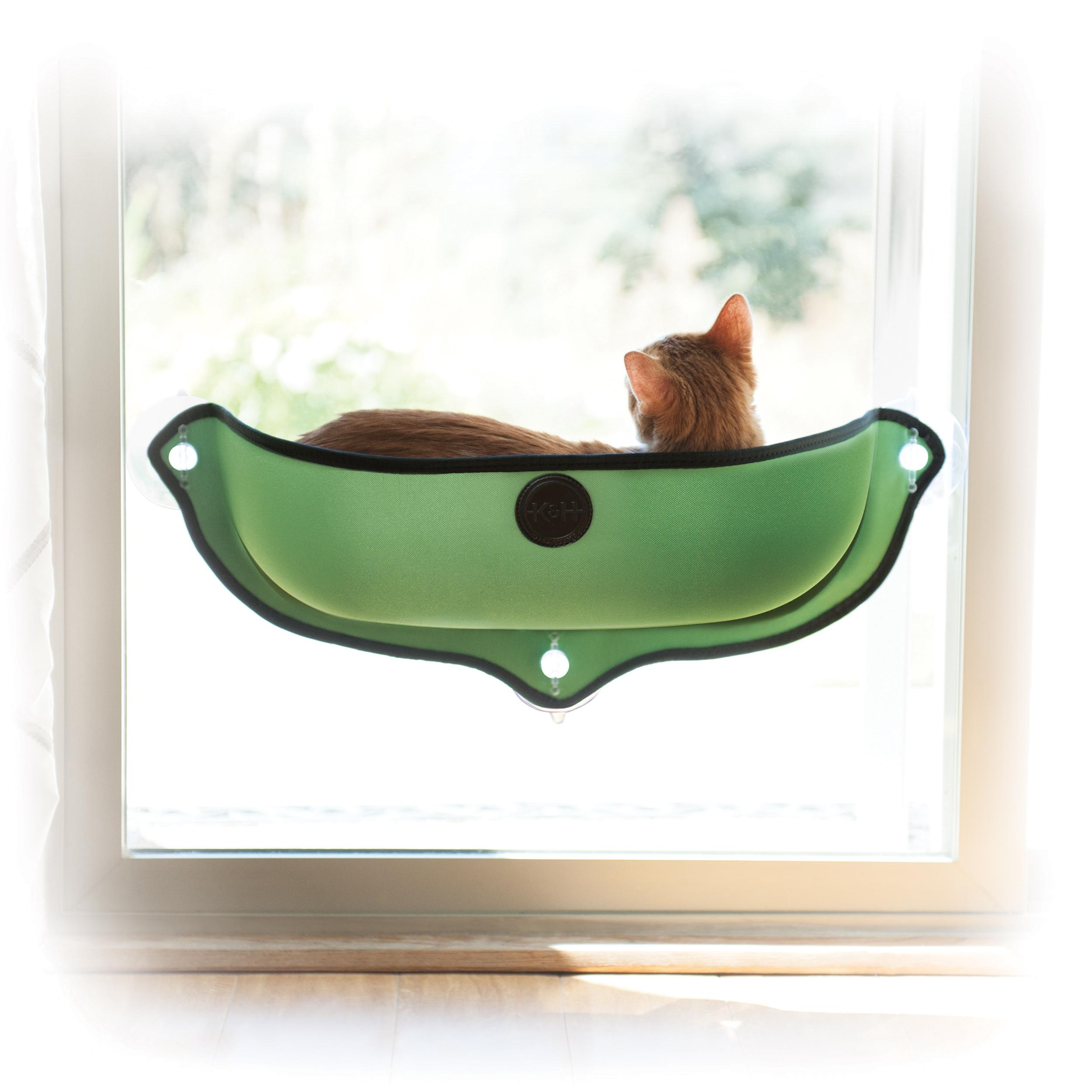 K H Pet Products EZ Mount Window Bed Kitty Sill Tan 27