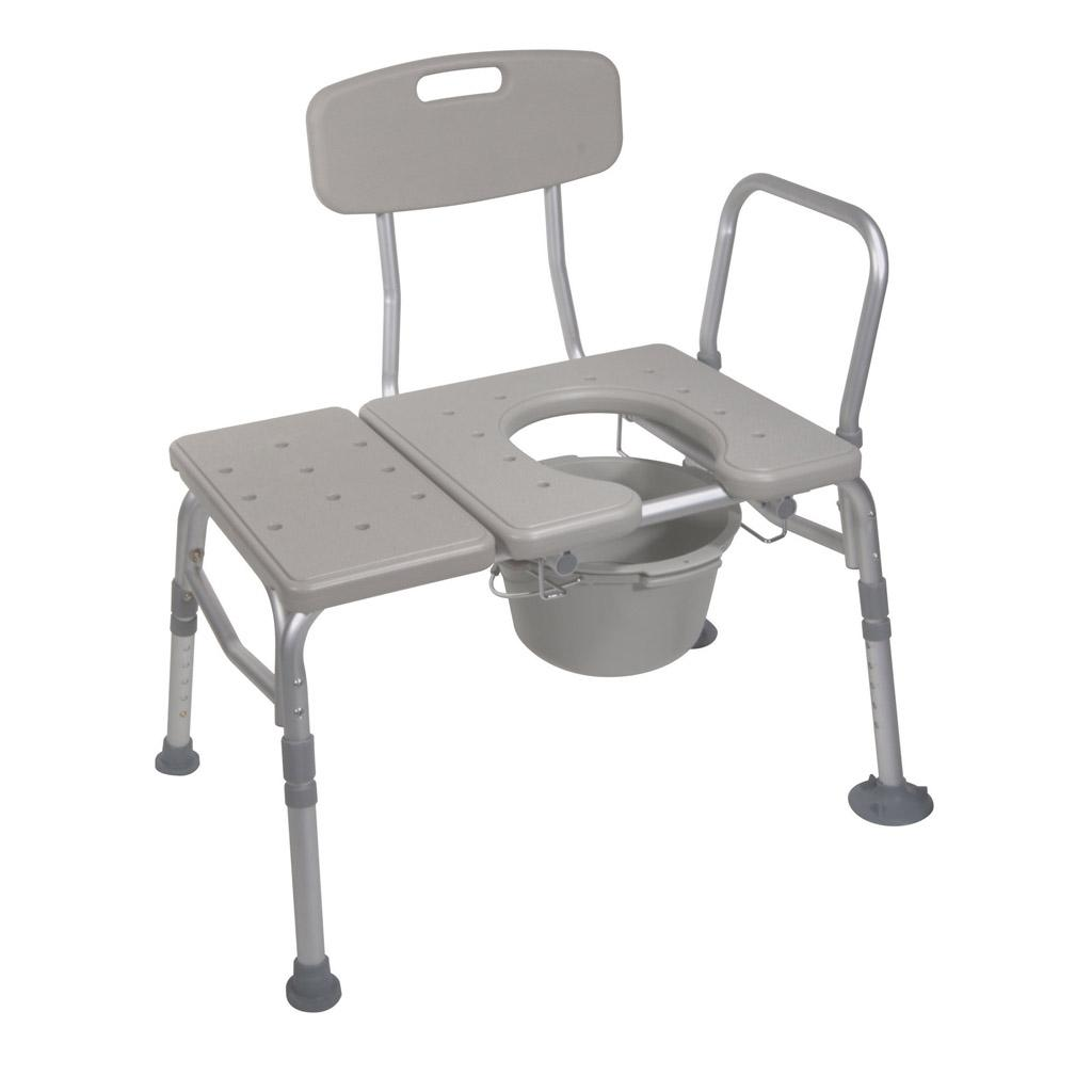 Awesome Drive Medical Combination Plastic Transfer Bench With Commode Opening Ibusinesslaw Wood Chair Design Ideas Ibusinesslaworg