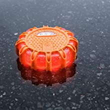 flashing red flare led light work worklight safety disk road roadside emergency lite roadflare car