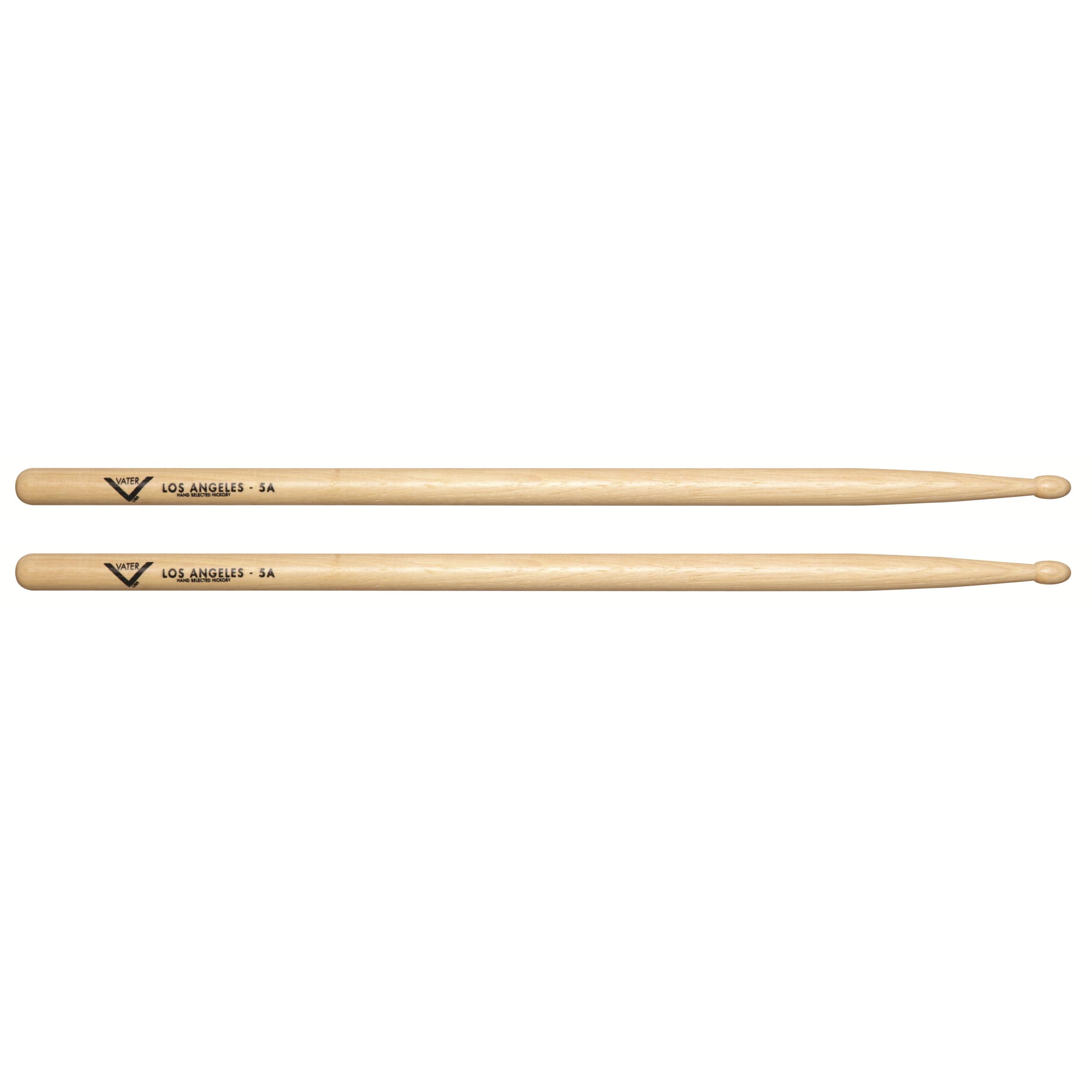 vater vh5aw los angeles 5a wood tip hickory drum sticks pair musical instruments. Black Bedroom Furniture Sets. Home Design Ideas
