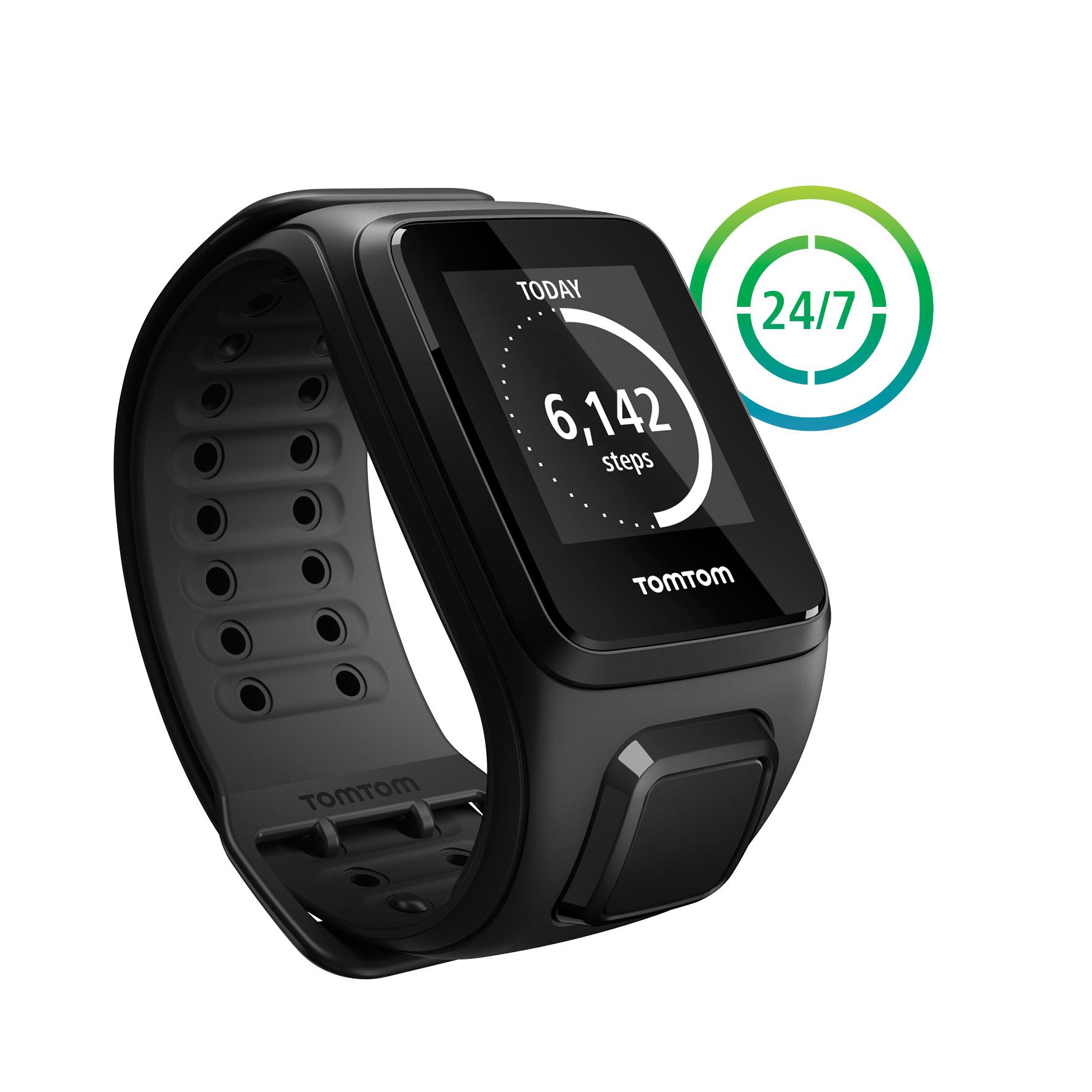 tomtom spark gps fitness watch large shocking blue cell phones accessories. Black Bedroom Furniture Sets. Home Design Ideas