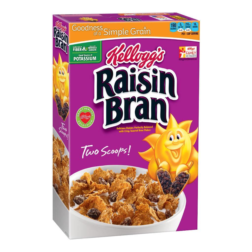 Acuoso Continente Apariencia  Kellogg's Raisin Bran, Breakfast - tiendamia.com