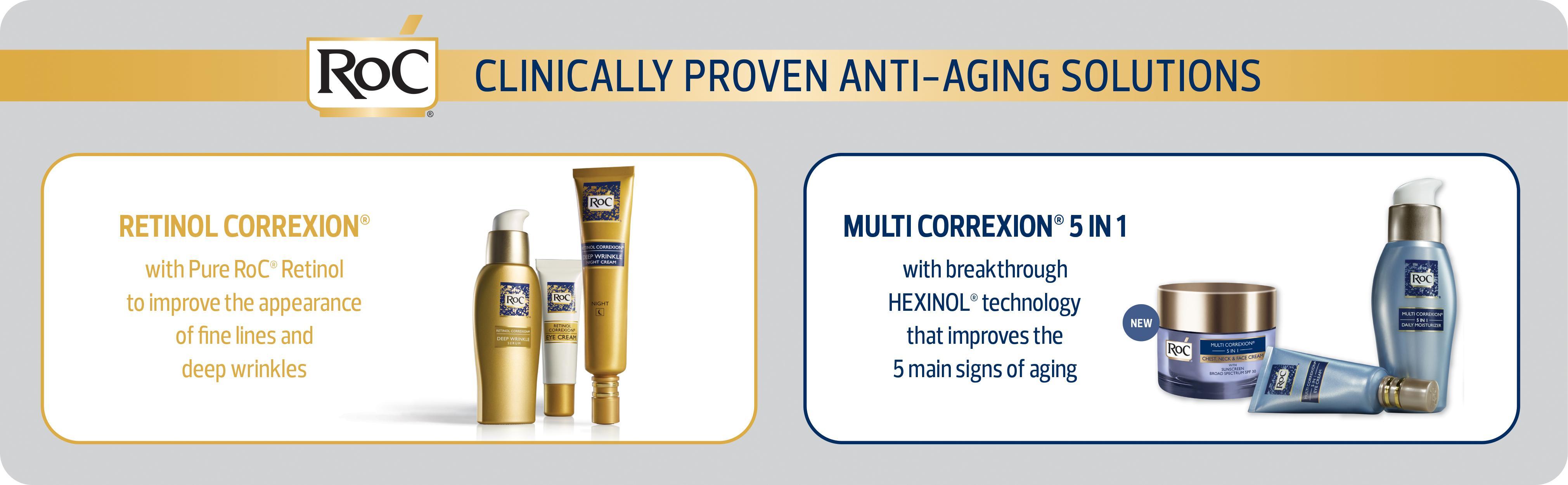 Amazon.com: RoC Retinol Correxion Deep Wrinkle Repair Pack: Beauty