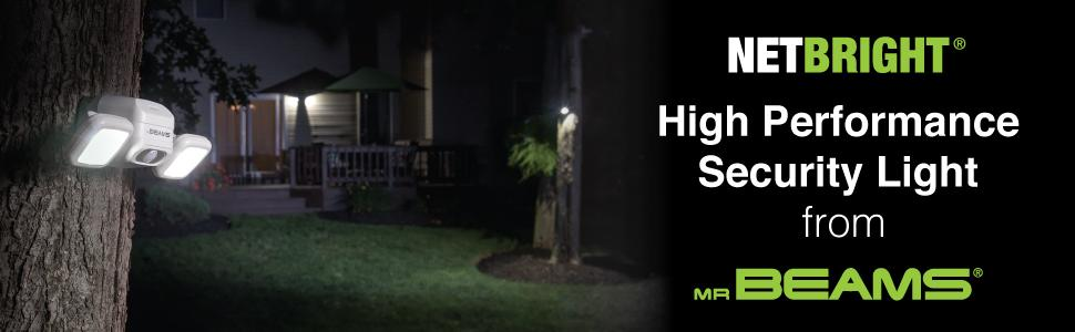 networked wireless spotlight system, security lights, smart spotlights, netbright, net bright lights