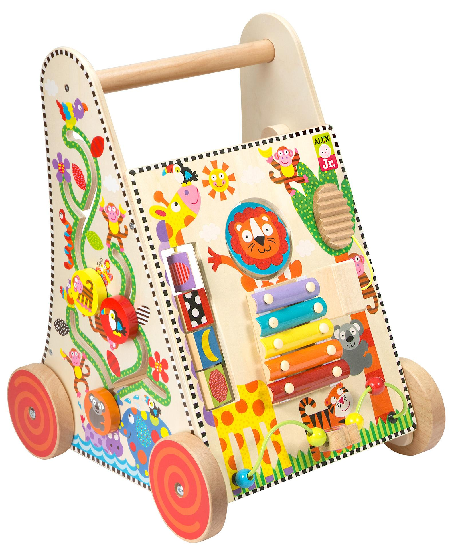 Buy Alex Toys Jr Jungle Fun Activity Cart Multi Color line at