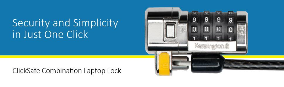 Kensington ClickSafe Combination Laptop Lock