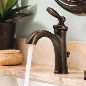 Moen 6600 Brantford One Handle Low Arc Bathroom Faucet