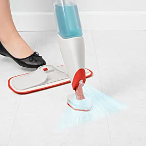 Amazon Com Oxo 12171000 Good Grips Spray Mop Microfiber