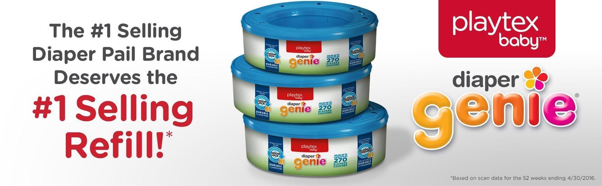 Amazon.com: Playtex Diaper Genie Refill Bags, Ideal for