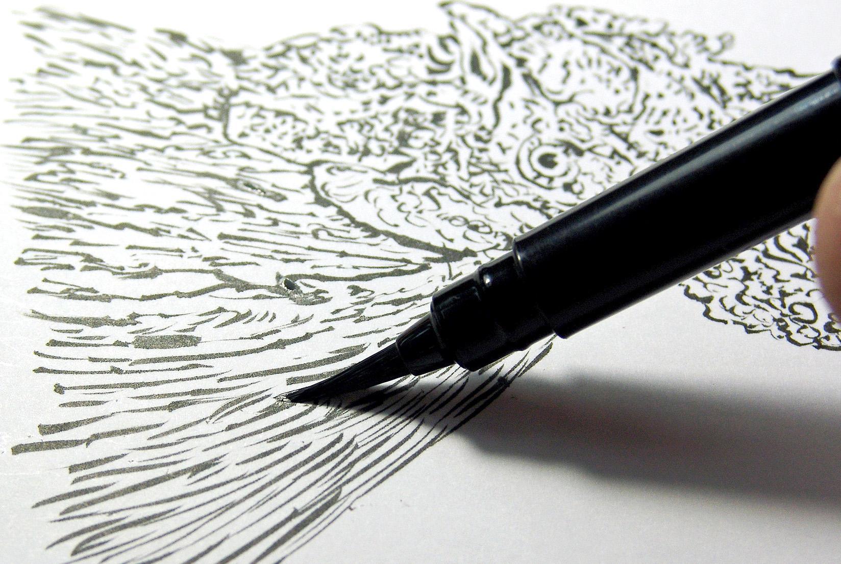 Pentel Arts Pocket Brush Pen With Refills 1 Pen 2