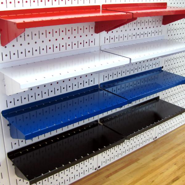 amazon com wall control asm sh 1606 w deep pegboard shelf assembly