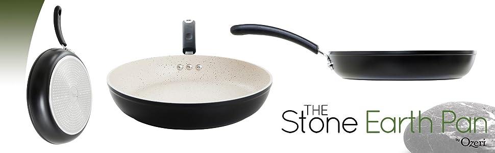 skillet with lid, best non stick pan, teflon pan, green earth pan, stone pan, eco cookware, saute