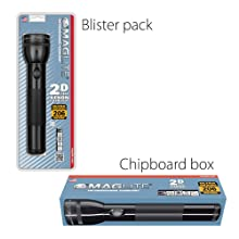 Maglite, Blister, Box, Incandescent, 2-Cell, 3-Cell, 4-Cell, 5-Cell, 6-Cell, D-Cell