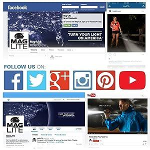 Maglite, USA, ONLINE, Mag, SocialMedia, Facebook, Twitter, GooglePlus, Pinterest, Instagram, YouTube