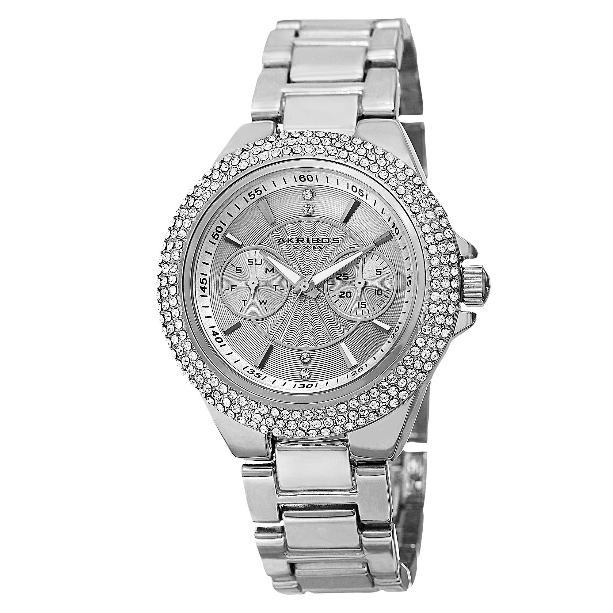 s watch club women silver pin crystal jewelry watches bracelet charter tone