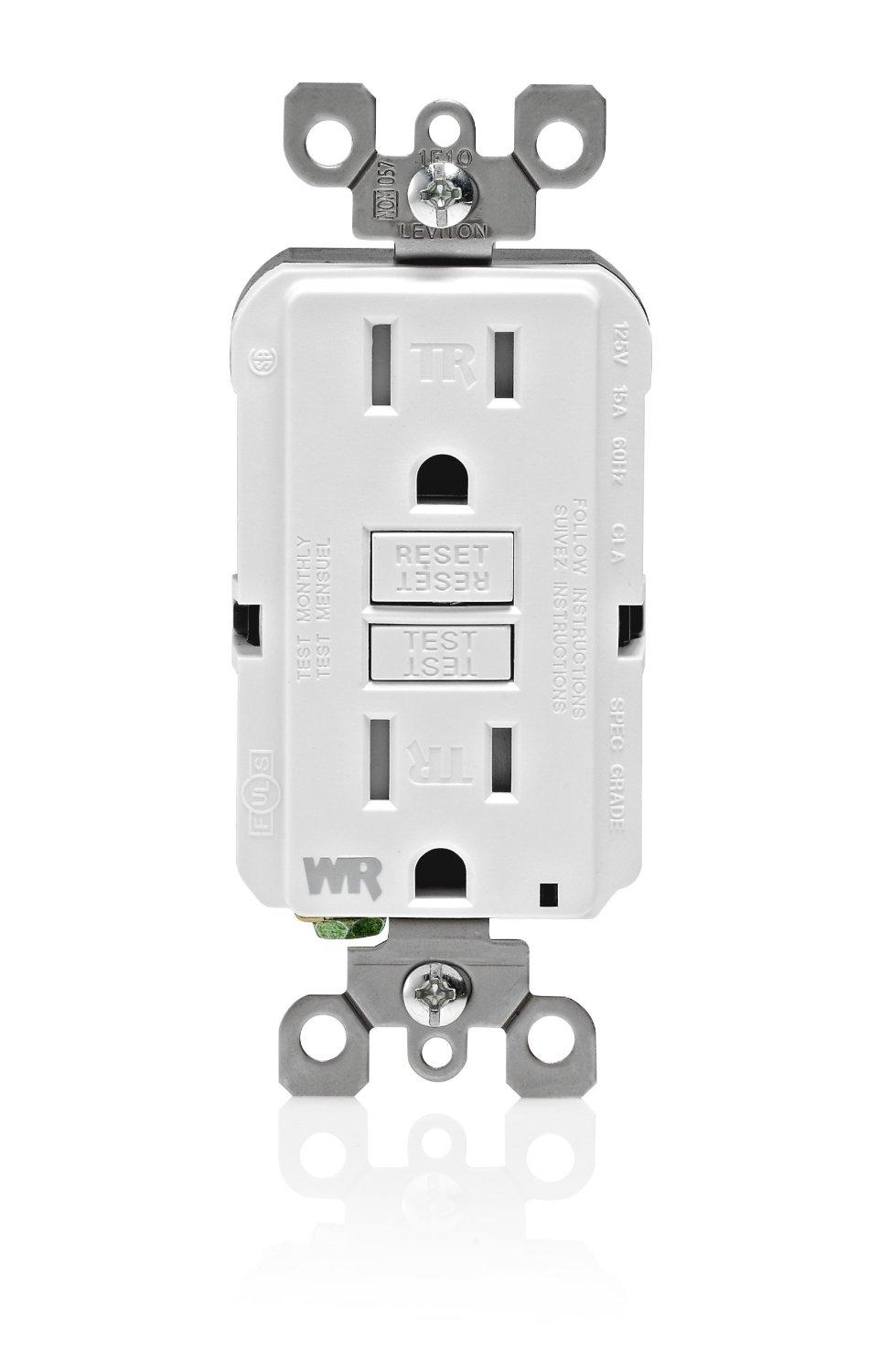 Leviton Gfwt1 W Self Test Smartlockpro Slim Gfci Weather Resistant Line Load Wiring Diagram From The Manufacturer