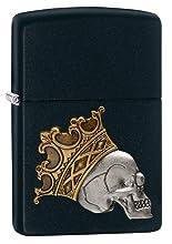 skull with crown, skull lighter, zippo skull lighter, emblem
