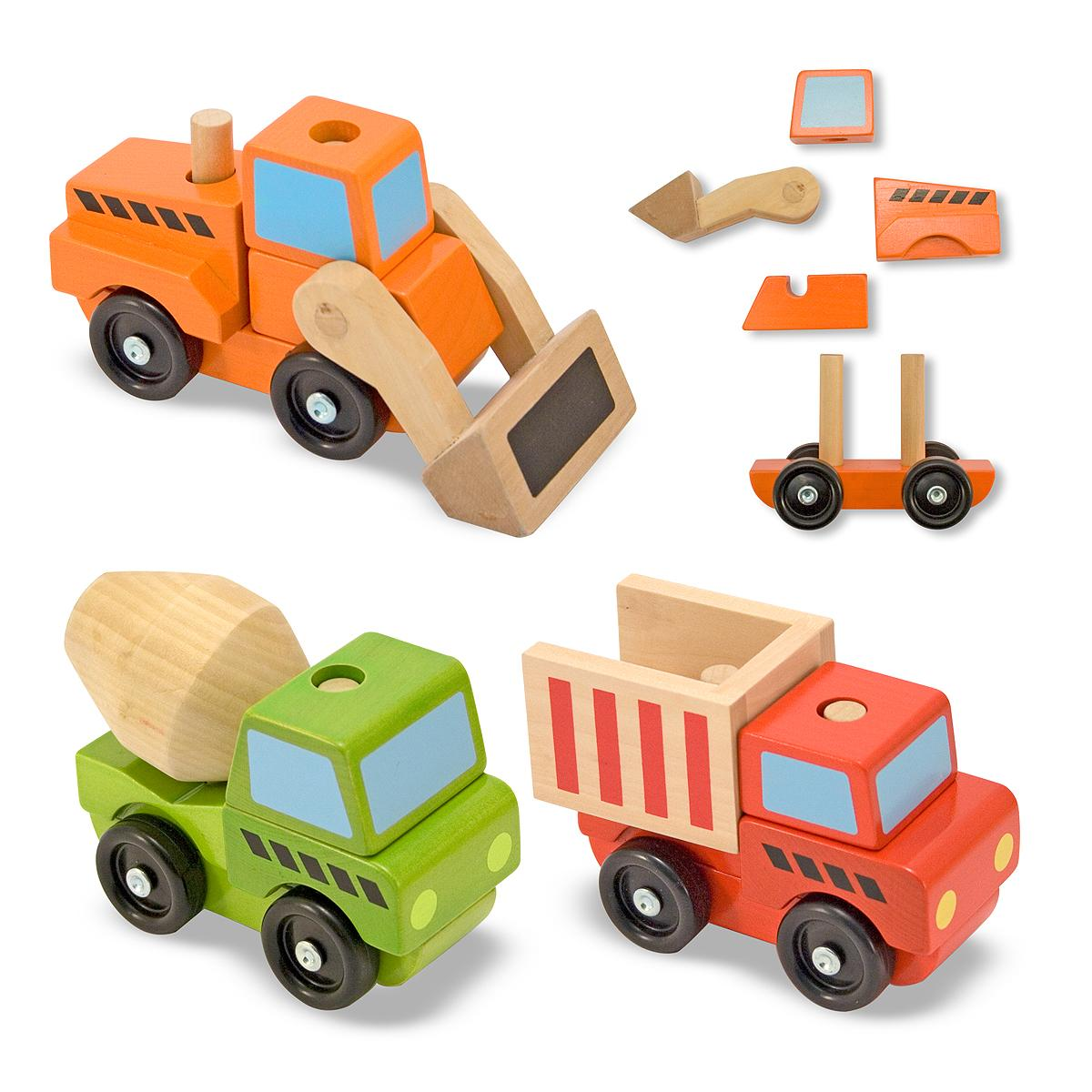 Toy Cars For 9 Year Olds : Amazon melissa doug stacking construction vehicles