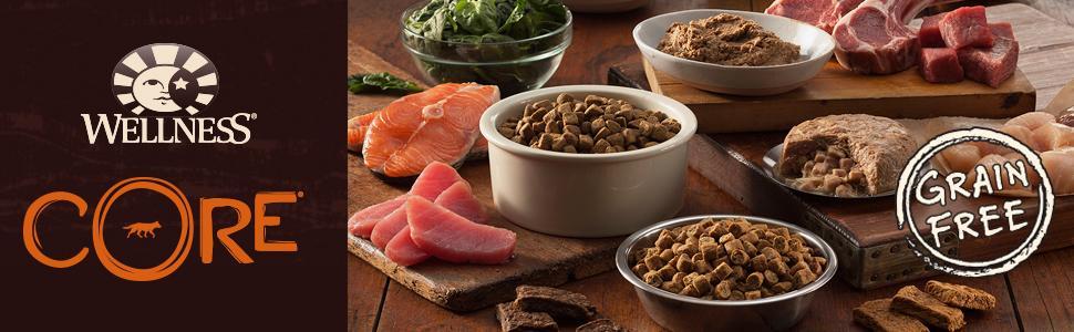 grain free dog food, grain-free dog food, high protein dog food, high-protein dog food, CORE