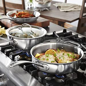 Calphalon Tri-Ply Stainless Steel 13-Piece Cookware Set