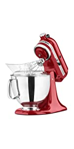 Amazon Com Kitchenaid Ksm150pser Artisan Tilt Head Stand Mixer With Pouring Shield 5 Quart Empire Red Electric Stand Mixers Kitchen Dining