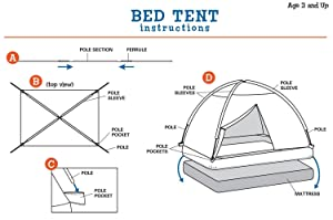 bed tent assembly  sc 1 st  Amazon.ca & Pacific Play Tents Tree House Bed Tent #19790 Play Tents - Amazon ...