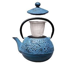 Old Dutch Cast Iron Osaka Teapot 20-Ounce Blue Old Dutch Int/'l LTD 1012BL