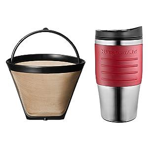 Amazon.com: KitchenAid KCM0402CU Personal Coffee Maker - Contour Silver: Drip Coffeemakers ...