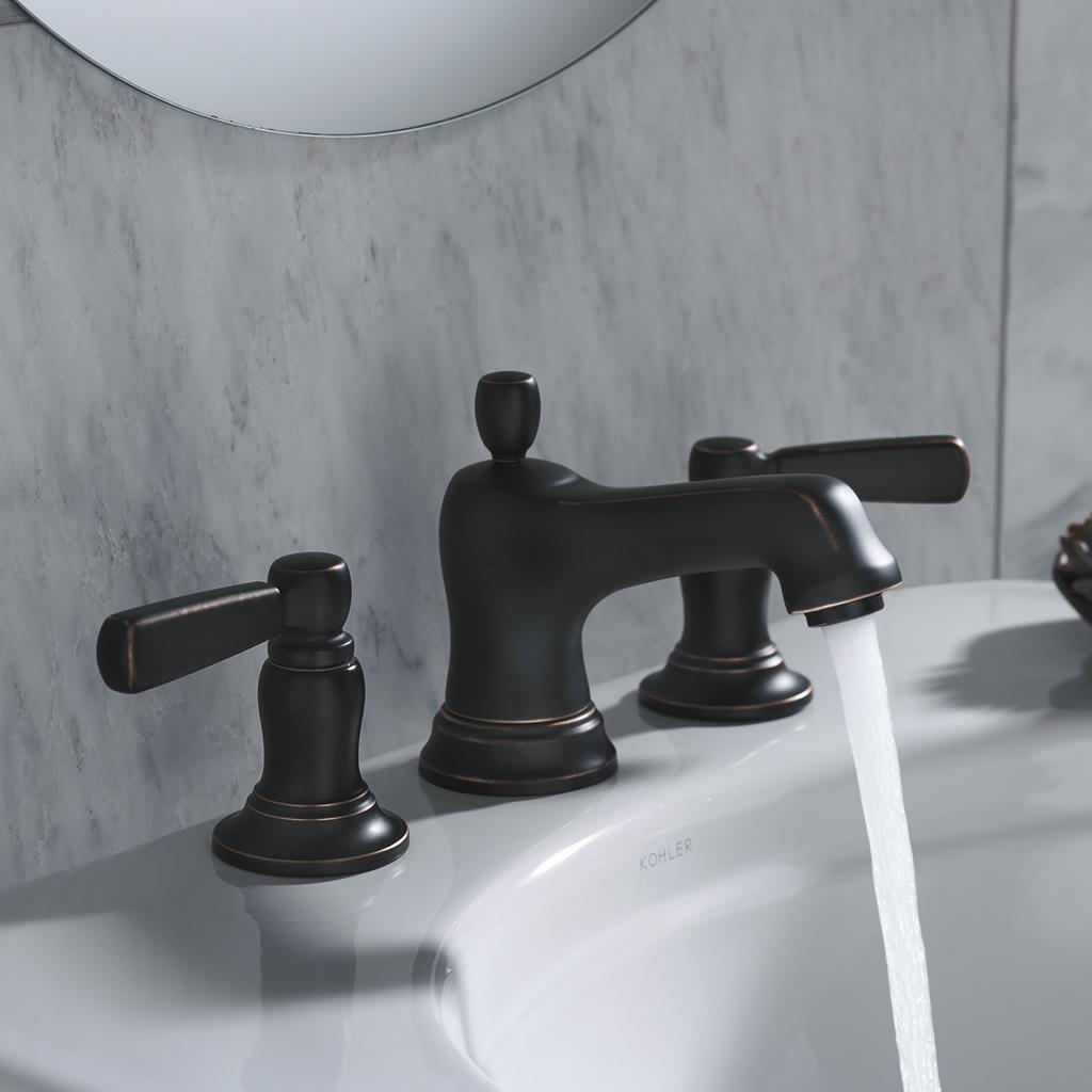 KOHLER K-10577-4-BN Bancroft Widespread Lavatory Faucet, Vibrant ...