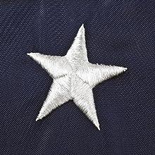 densely embroidered star on Annin flag