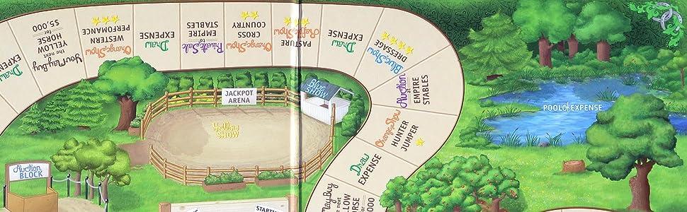 Fantasy Stables, Board Game, Board