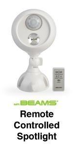 mr beams spotlight with remote control, remote spotlight, wireless led spotlight with remote